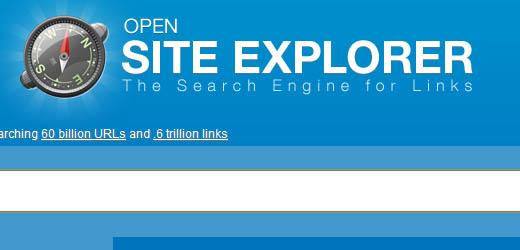 SEOMoz Open Site Explorer Tool - A great tool for SEO.